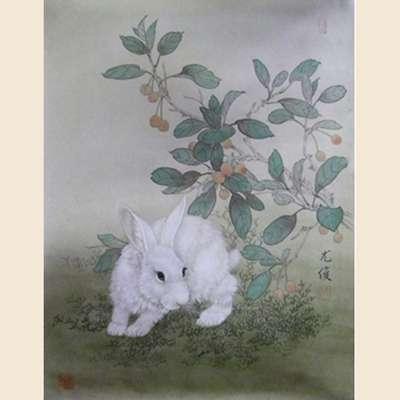 中国画白兔子工笔步骤
