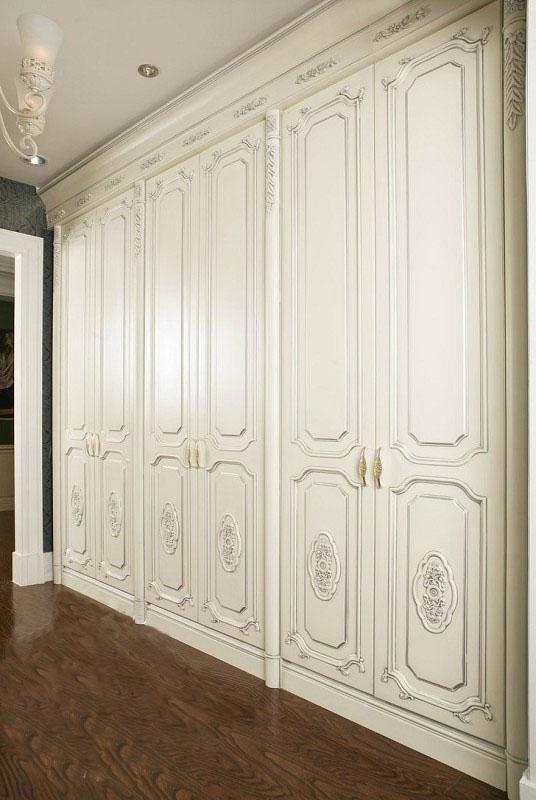 巴伦斯实木定制经典法式衣柜图片