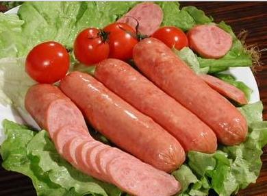 猪肉香肠腊肠灌肠定制桂鱼茭白灌肠腊肠套养香肠图片
