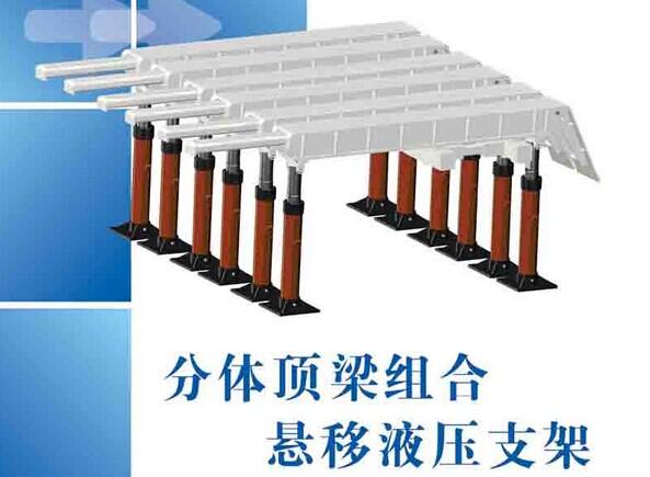分体顶梁组合悬移液压支架zh2000/16/24fl图片
