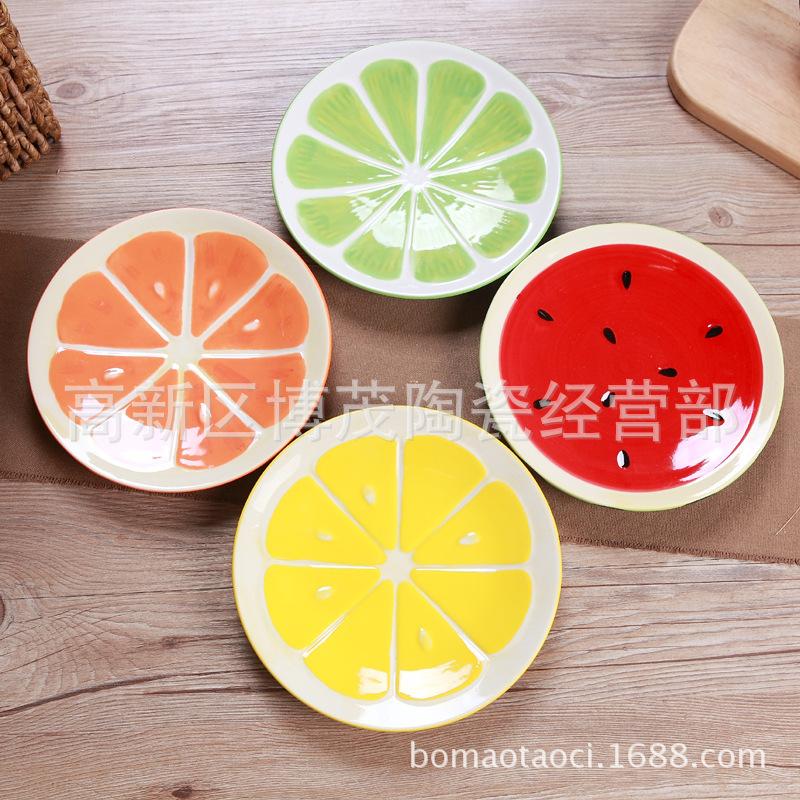 甜品碗景德镇缤纷水果碗可爱手绘餐具碗创意韩式西瓜