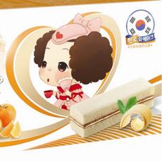 夹层蛋糕平板蛋糕爱纤夹层蛋糕(牛奶味香橙味)80g盒装