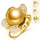北海珍珠批發 南洋珍珠戒指 海水珍珠 金色潮流女款