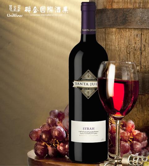圣茱莉亚精选西拉干红葡萄酒