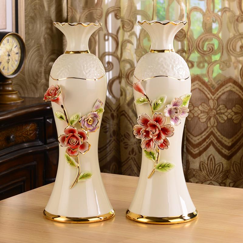 欧式陶瓷创意花瓶 家居工艺摆件卧室精美工艺品情侣婚庆礼品厂图片