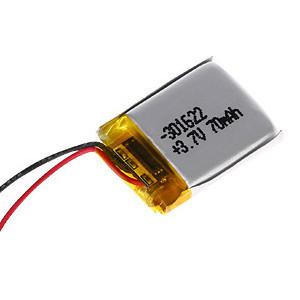 70mAhPATL301622蓝牙耳机聚合物锂离子电池