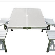 供应铝合金HL-050 铝合金连体折叠桌椅