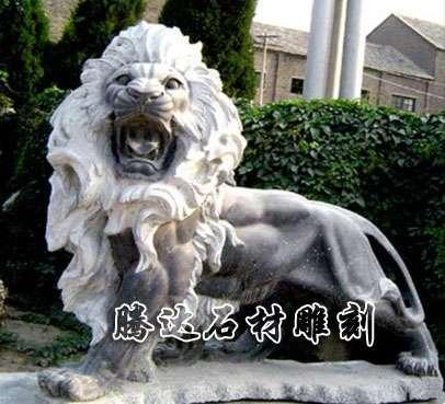 河北动物雕塑 石雕狮子厂家