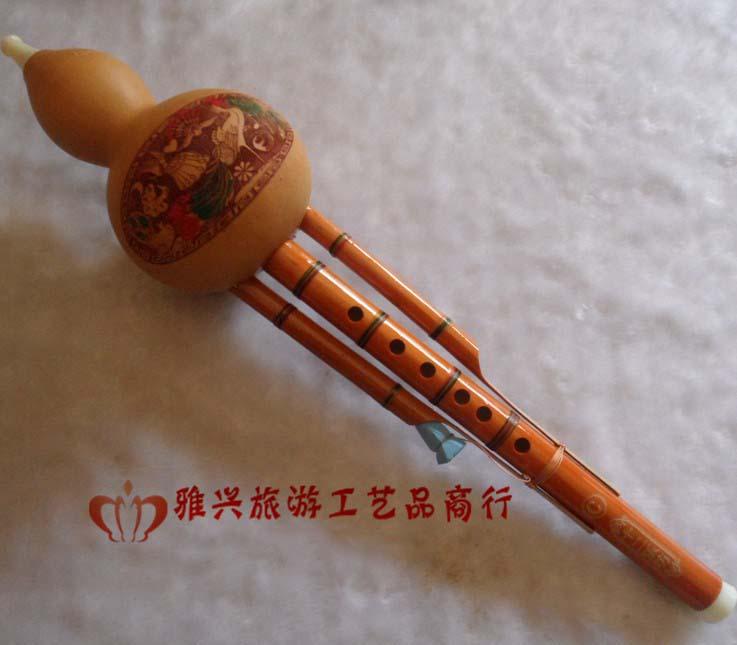 招商天然葫芦丝批发 天然凤尾竹双音葫芦丝乐器批发 C调降B调