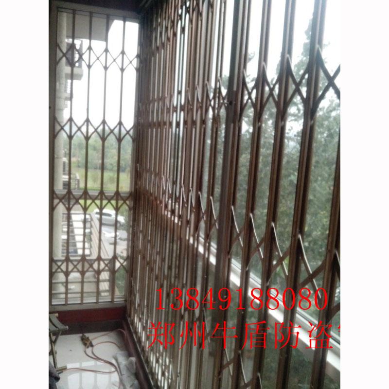 不锈钢玫瑰金推拉防盗窗16