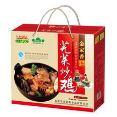 山东特产莱芜炒鸡金家香清真食品2240g  10盒以上包邮并赠送500g烤鸡一袋