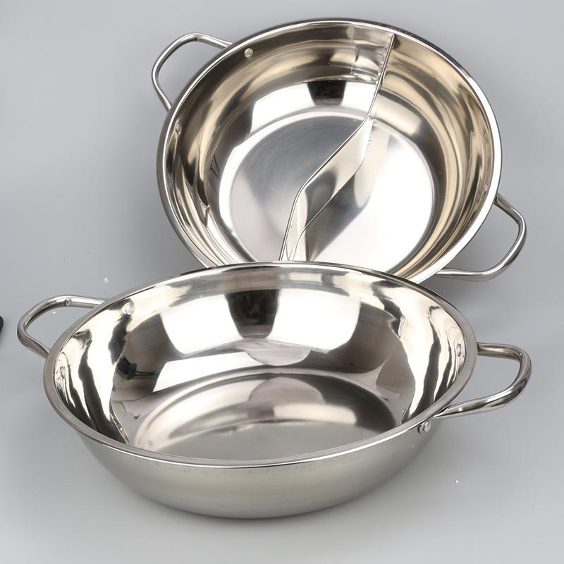 加厚无磁不锈钢小肥羊清汤锅 鸳鸯锅 火锅 二味锅 商用火锅盆