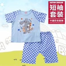 宝宝夏装短袖儿童套装 2016夏装新款男女童装 韩版卡通T恤两件套