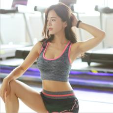 供应新款运动跑步速干背心女 运动文胸 健身聚拢防震瑜伽文胸内衣厂家
