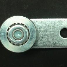 07124软蓬车钢镀锌滑轮 配滑轨适用 软篷车配件