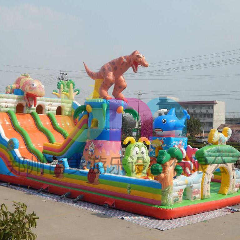 湖南岳阳东西充气城堡 变色龙款式儿童充气滑梯大品牌好质量