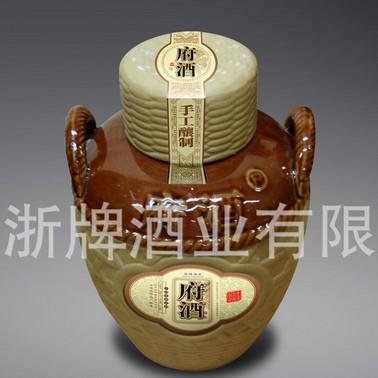 金华府酒_府酒 五年陈酿三斤坛装金华黄酒