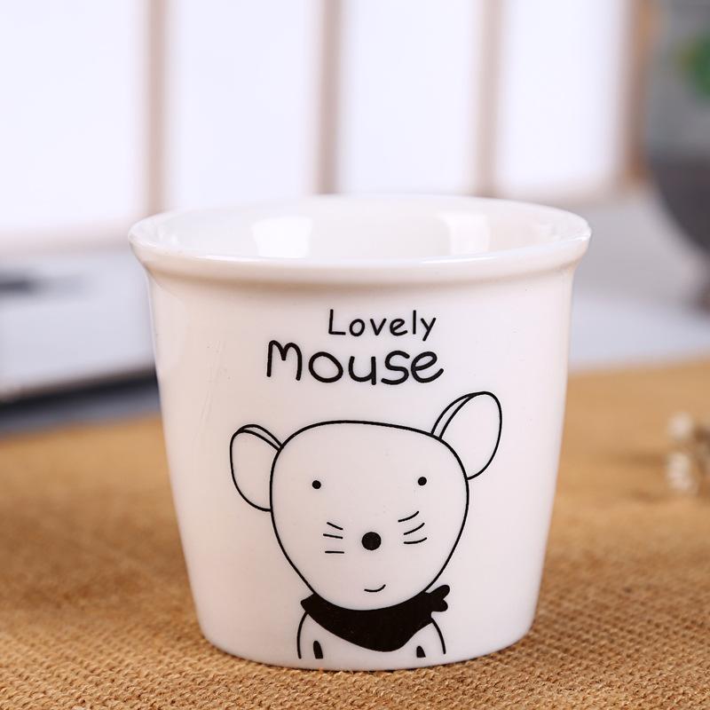 马克杯陶瓷杯 十二生肖一口杯 创意个性可爱小杯子创意水杯