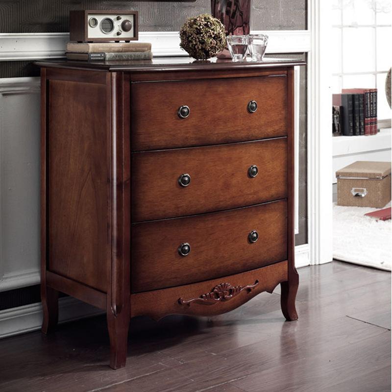 图片仅供参考,美式乡村复古三斗柜欧式卧室实木斗橱抽屉柜边柜玄关柜图片