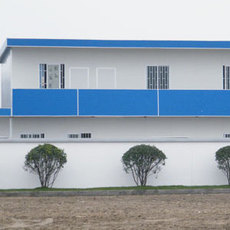 河北邢台低价异型活动房现场设计安装 qhcg004