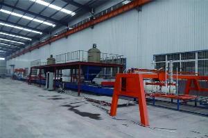 大型玻镁防火门芯板设备兴邦供应优质防火门芯板生产线