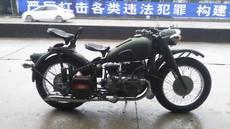 供应长江750CC单机精致改装(军绿亚光)