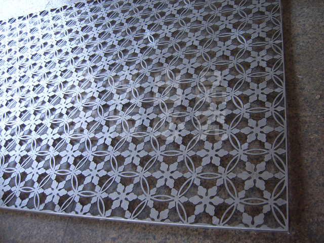 【激光切割加工】金属镂空切割花纹板