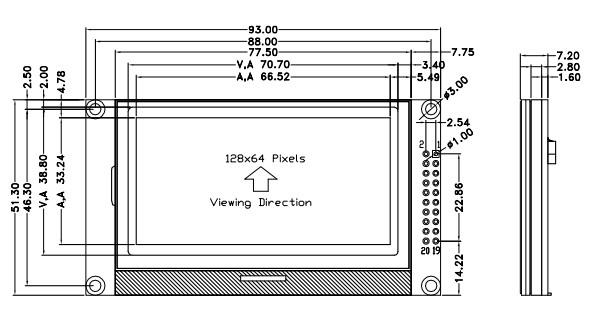 12864-80图形点阵LCD显示模块