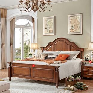 供应 实木床双人婚床欧式卧室套房家具