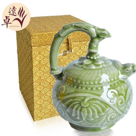 供应 大号耀州瓷家庭饰品摆件
