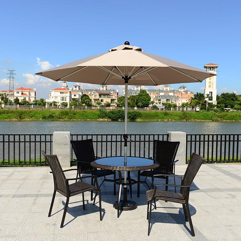 户外遮阳伞庭院花园酒店太阳伞双层铝合金中柱伞室定制广告沙滩伞