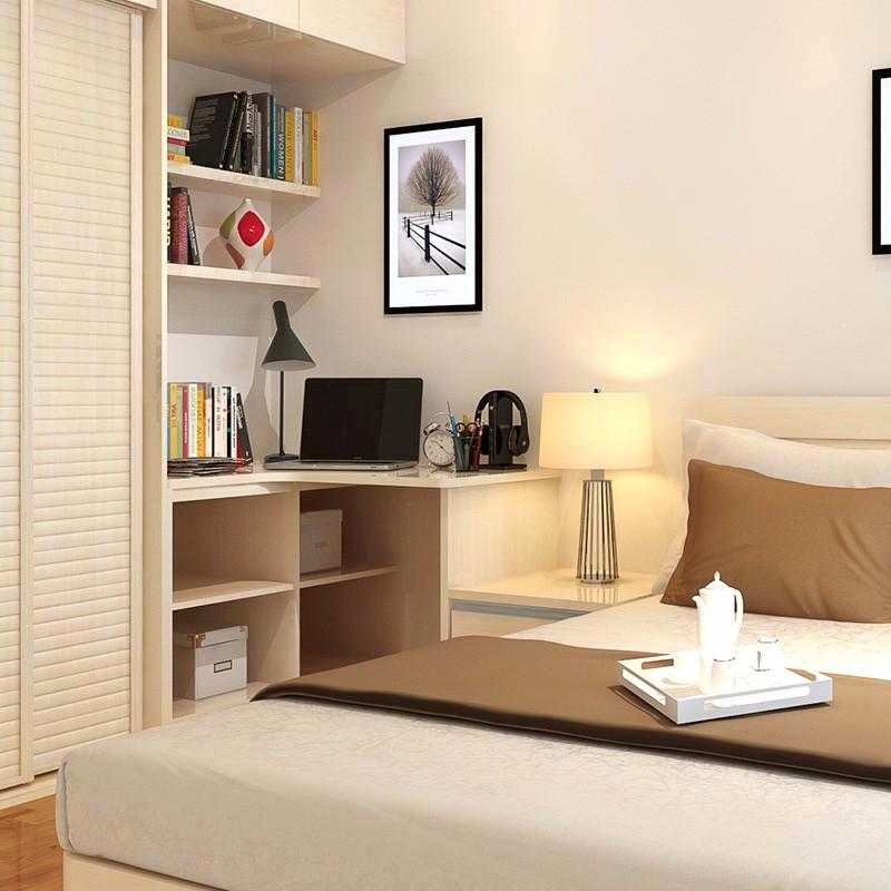 定制 现代简约风格 木质书柜电视柜壁柜书桌置物柜整体组合 全屋定制