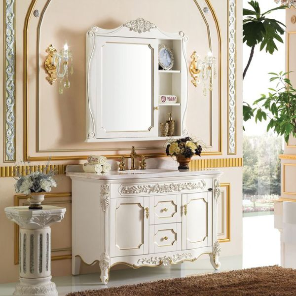 欧式浴室柜 仿古橡木浴室柜厂家直销批发定制6944