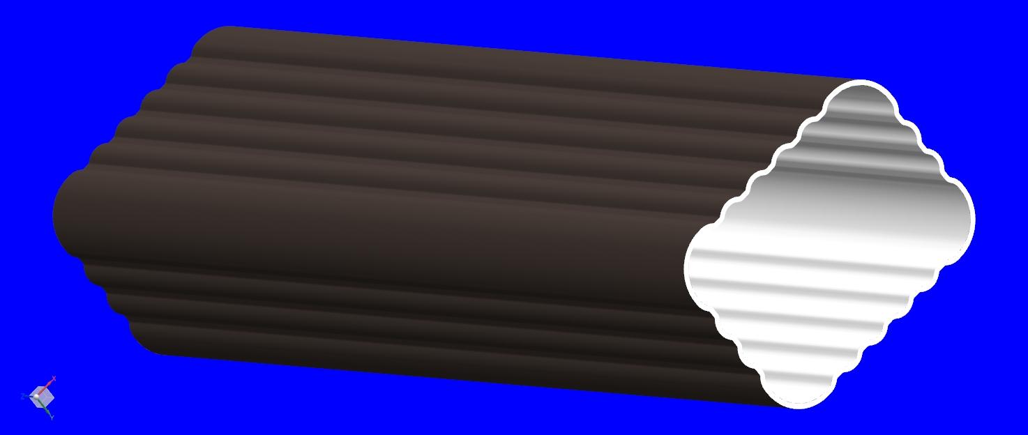 树脂方管 彩色檐沟生产 彩色檐沟定制