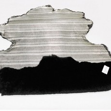 供应羊皮黑色二层皮革