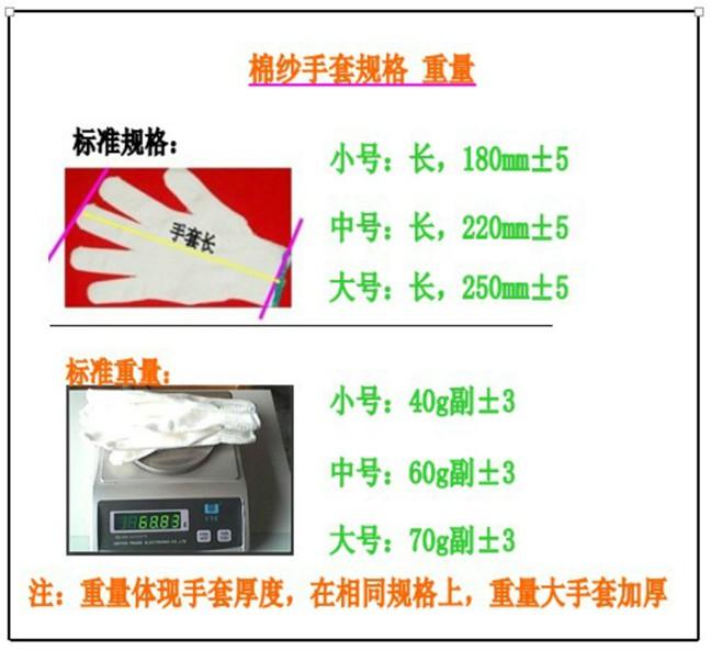 标准优质棉纱手套纯棉AS100型60克/副2元