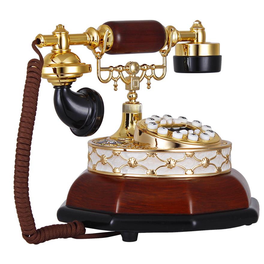 欧式座机家用复古电话机固定老式电话工厂直销家居