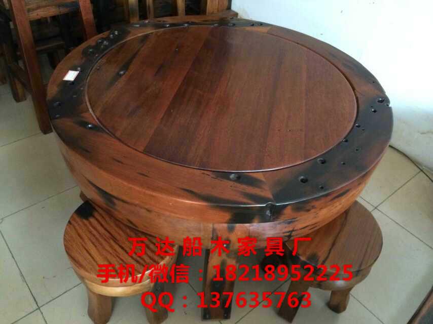 老船木家具博古架茶桌茶几餐桌办公桌椅子长凳沙发大吧台定制价格便宜