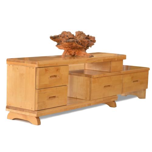 王家实木家具 进口桦木制作实木家俱 伸缩电视柜  实木家具设计  厂家直销