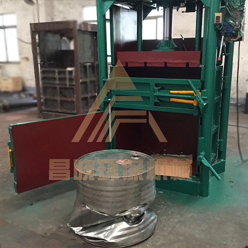 废纸打包机厂家废纸压块机 60吨矿泉水瓶液压打包机
