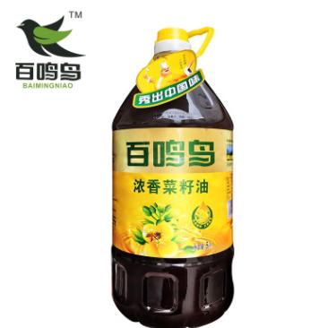 厂家直供 百鸣鸟5L浓香菜籽油厂家批发价