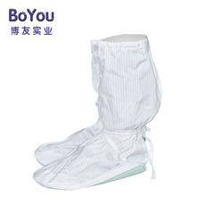 pvc硬底防静电高筒鞋无尘PU低长筒防护鞋防尘鞋条纹网格定制批发