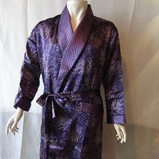 丝绸睡衣  真丝睡衣 顺成纺织丝绸睡衣 树枝印花睡袍睡衣男
