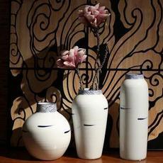 供应 白色装饰花瓶青花瓷插花器