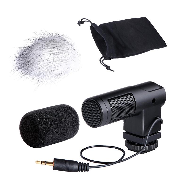 BOYA BY-V01 紧凑型立体声电容式麦克风 采访话筒摄像机单反相机