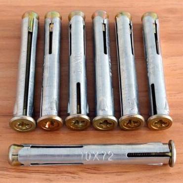 供应批发窗式壁虎 塑钢门窗专用膨胀螺丝/螺栓 十字平头沉头膨胀螺栓
