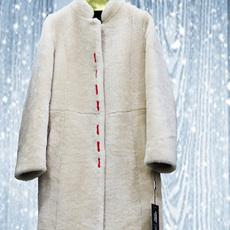 艾尚 新款羊皮毛一体外套女中长款羊剪绒皮草女阳原毛皮
