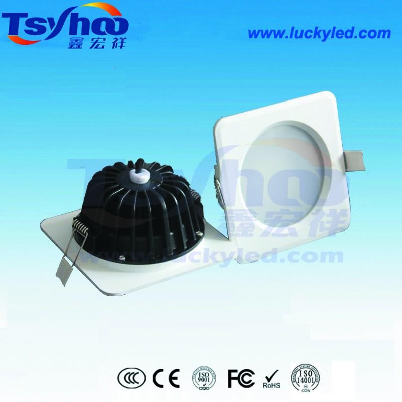 厂家直销2.5寸/3寸圆形/方形LED防水筒灯 深圳优质防水筒灯厂家 3寸12W防水筒灯