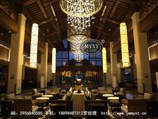 希尔顿酒店灯具 武汉酒店工程灯 酒店大堂工程吊灯 五星级酒店灯具 特色酒店工程灯