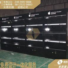 哈尔滨苹果店新款配件墙定做_出售木纹方形体验桌厂家